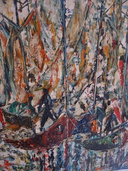 Haitian Artist '60 Oil on Canvas